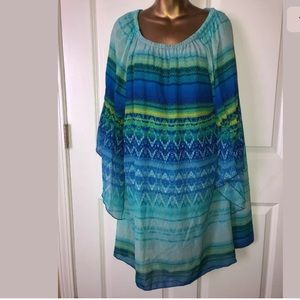 ND New Directions Multicolored dress size large